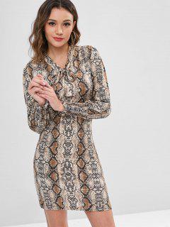 Mini-robe à Imprimé Noeud Serpent à Nœud Papillon - Multi M
