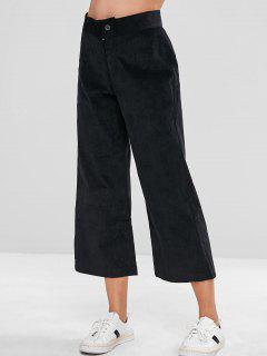 Pantalon Large En Velours Côtelé Zip Fly - Noir M