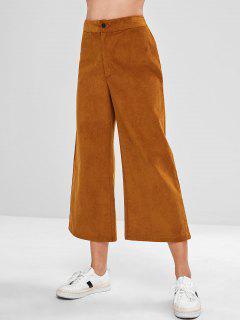 Pantalon Mi-long En Velours Côtelé - Brun M