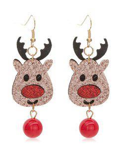 Cute Elk Christmas Hook Earrings - Multi