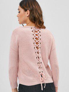 Oeillets à Lacets Pull - Rose