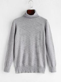 Zig Zag Turtleneck Sweater - Gray Cloud