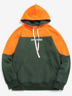 Känguru Pocket Brief Gedruckt Fleece Hoodie - Kürbis Orange Xl