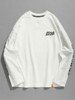 Traditional Japanese Women Print T-shirt - White Xl