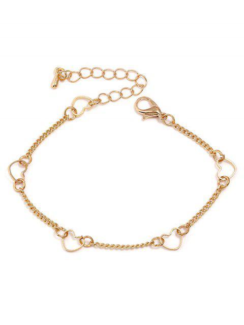 Bracelet chaîne en forme de coeur - Or  Mobile