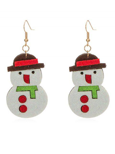 outfit Cute Snowman Party Drop Earrings - WHITE  Mobile