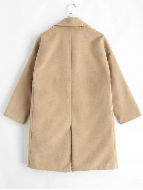 Manteau Poche Surdimensionné en Fausse Laine - Marron Camel S Mobile