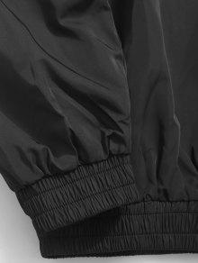 820e2d23f 34% OFF] 2019 Casual Letter Pullover Windbreaker Jacket In BLACK | ZAFUL