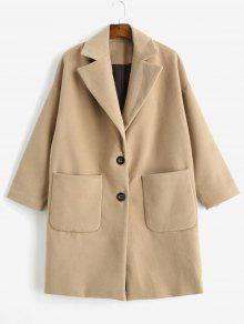 معطف من الصوف مزين بفيونكة - الجمل الجمل S