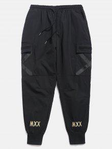 عبر السراويل جيب عداء ببطء جيب - أسود Xl
