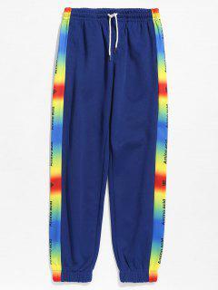 Pantalon De Jogging En Couleur Ombrée à Cordon - Bleu Lapis 2xl