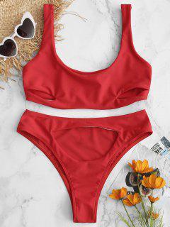 ZAFUL - Ausgestelltes Bralette-Bikini-Set Mit Hoher Taille - Feuerwehrauto Rot L