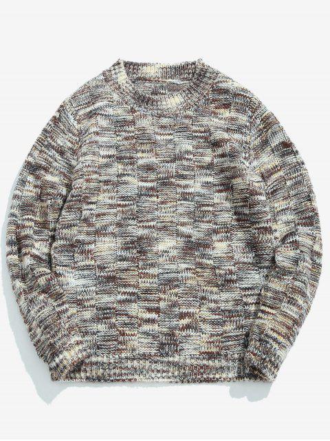 Sortierte Farben Rundhals Pullover Pullover - Graue Gans 2XL Mobile