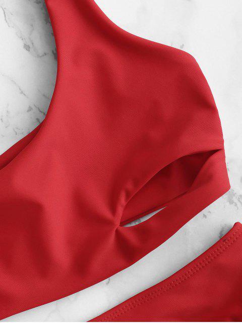 ZAFUL Ensemble de Bikini Découpé à Taille Haute - Rouge de Pompier L Mobile
