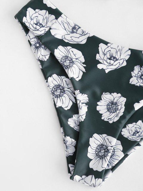ZAFUL Floralsバンドゥビキニセット - ダークフォレストグリーン L Mobile