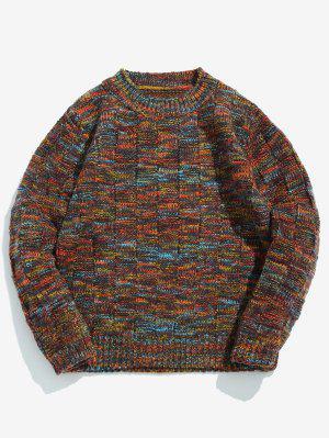 Sortierte Farben Rundhals Pullover Pullover
