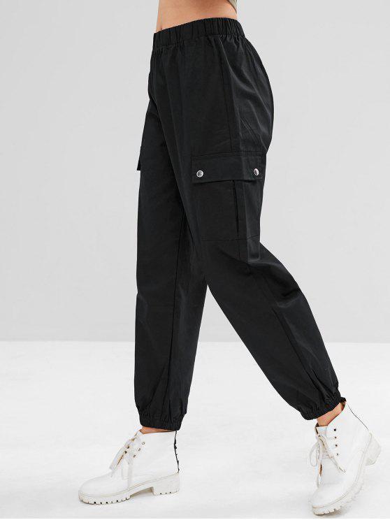 Pantalones deportivos de jogging de carga - Negro L