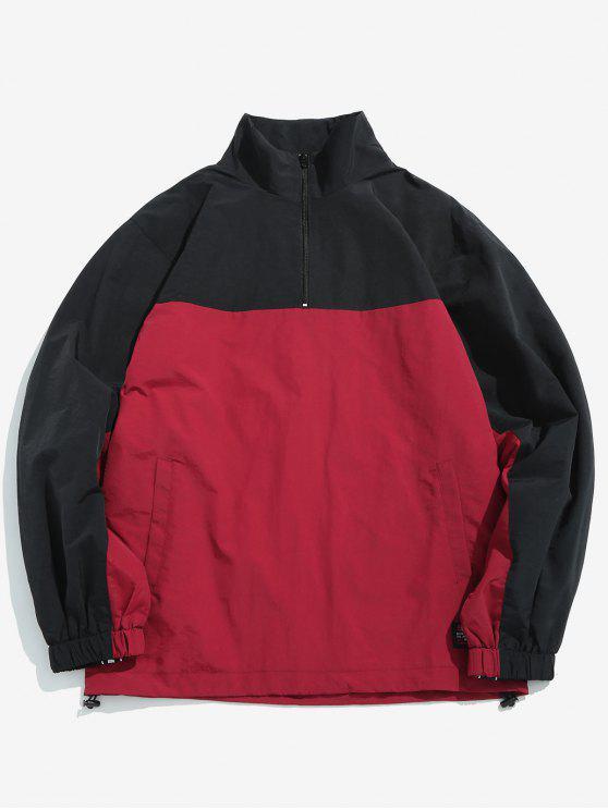 Giacca Pullover A Blocchi Di Colore - Rosso Ciliegia XL