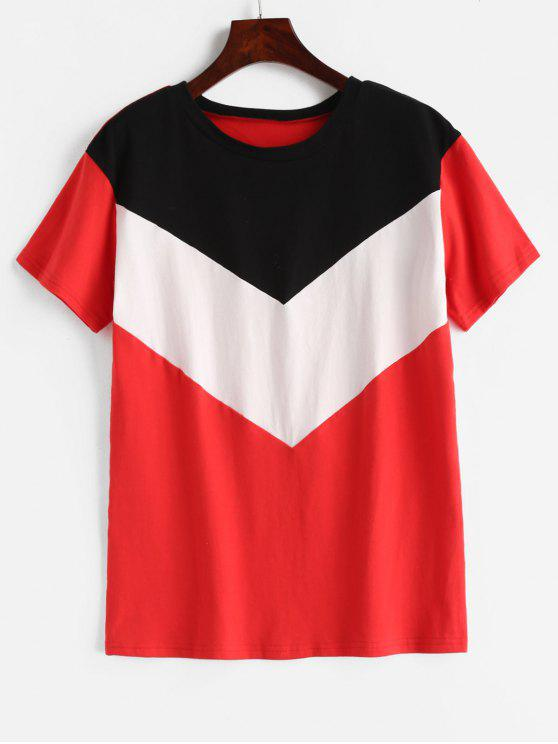 online ZAFUL Short Sleeve Color Block Tee - MULTI-A M