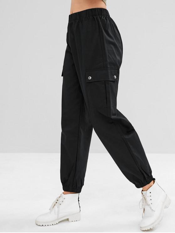 latest Sports Cargo Jogger Pants - BLACK L
