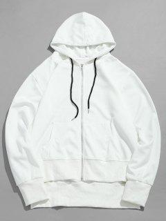 Solid Pocket Zip Jacket - White Xl