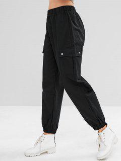 Sports Cargo Jogger Pants - Black L