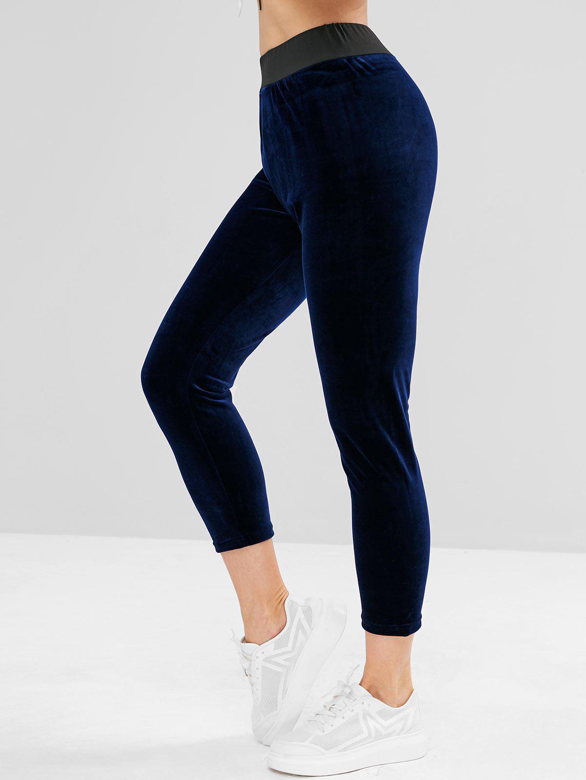 ZAFUL Velours Taille Haute pantalon en Molleton