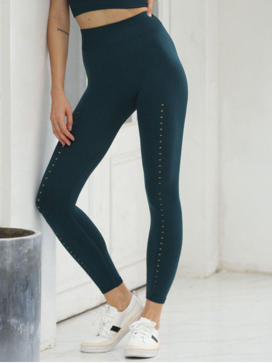 510140027140a0 26% OFF] 2019 Seamless High Waisted Perforated Workout Leggings In ...