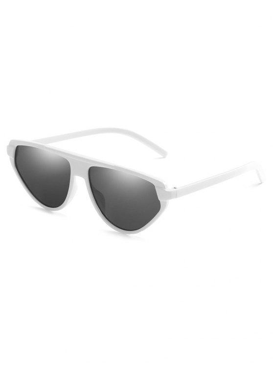 Gafas de sol Catty de lente plana de marco completo liviano - Blanco