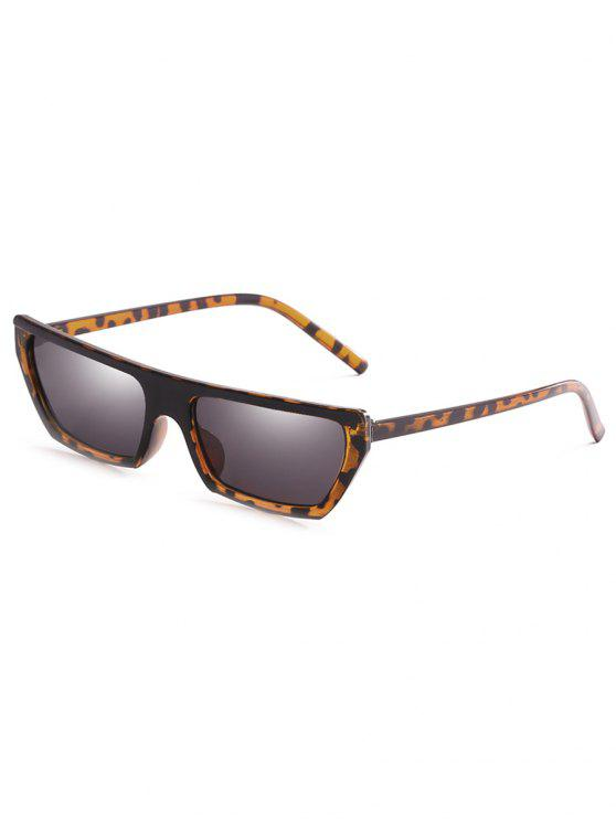 outfits Anti Fatigue Rectangle Flat Leans Sunglasses - LEOPARD