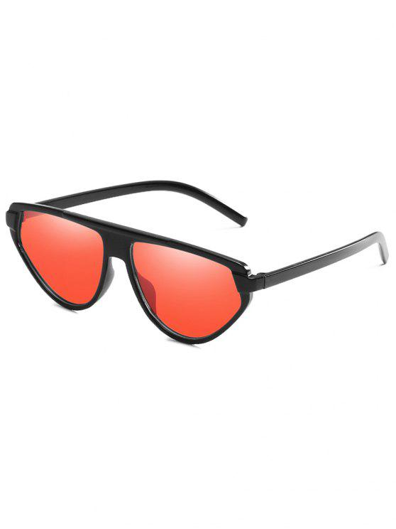 affordable Lightweight Full Frame Flat Lens Catty Sunglasses - BEAN RED