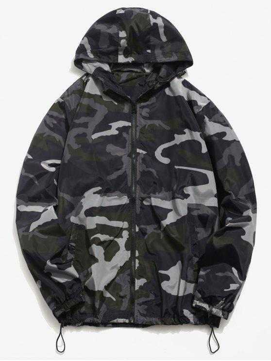 fashion Camo Quick Dry Lightweight Jacket - BLACK S