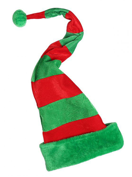 affordable Novelty Color Block Christmas Party Hat - MULTI
