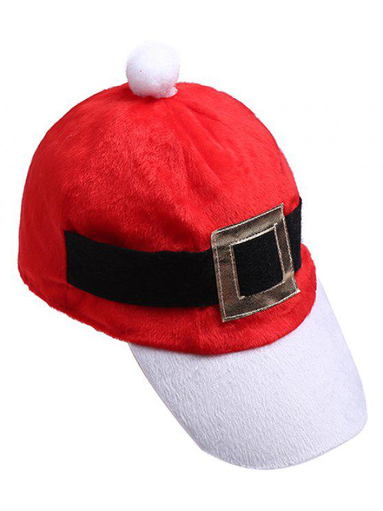 Weihnachtsthema-Neuheit-Baseballmütze - Lava Rot