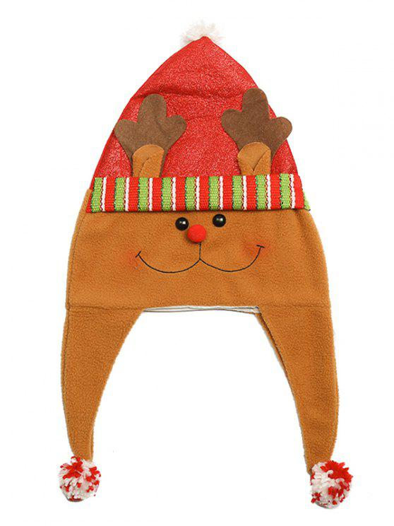 Tema de Natal Cartoon Elk Party Hat - Multi
