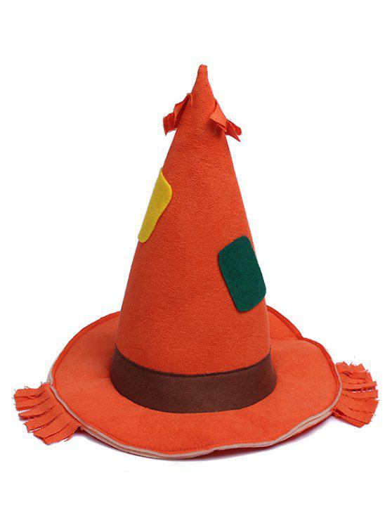 latest Halloween Theme Splice Witch Hat - PAPAYA ORANGE