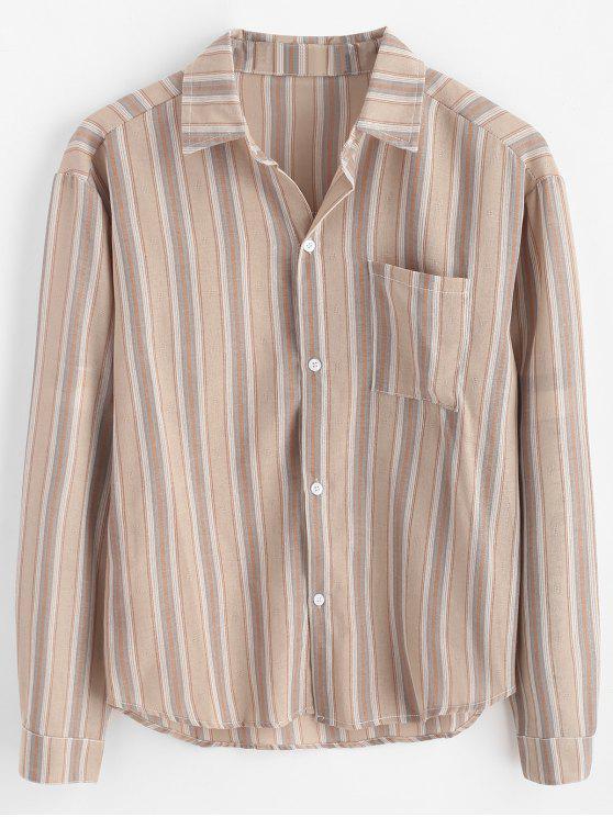 قميص بحافة عالية تنحنح - متعددة-B 3XL