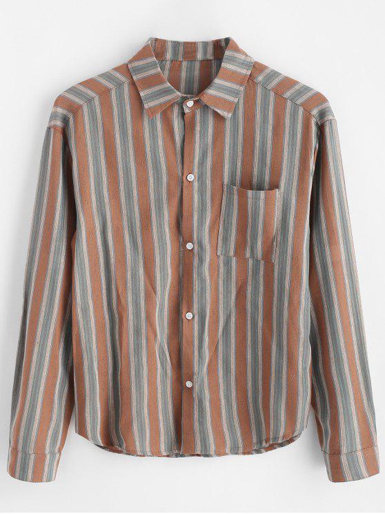 قميص بحافة عالية تنحنح - متعددة-A 2XL