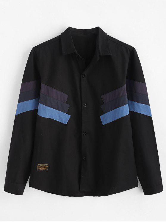 لون القميص خليط القميص - أسود 2XL