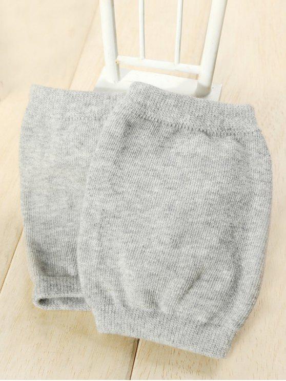 ladies Winter Solid Color Knee Warmers - GRAY CLOUD
