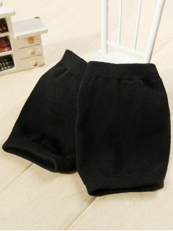 outfit Winter Solid Color Knee Warmers - BLACK