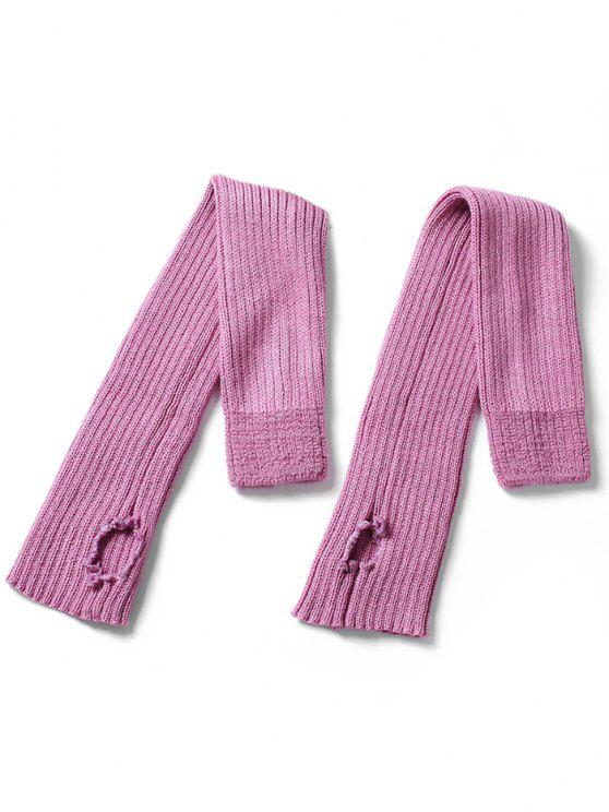 online Winter Striped Knitted Leg Warmers - PINK CUPCAKE