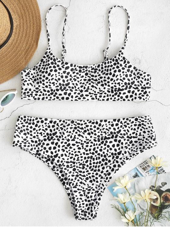 Bikini con Estampado Abstracto ZAFUL - Blanco L