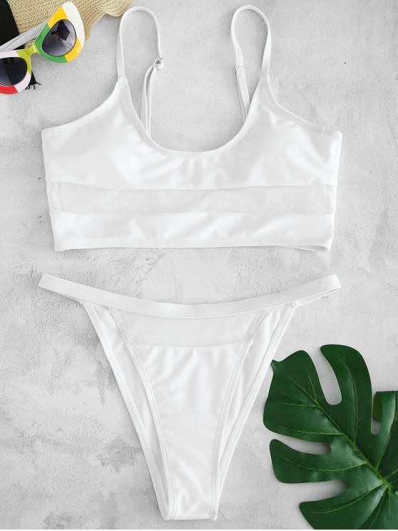 ZAFUL Mesh Panel- Bikini-Set - Weiß S