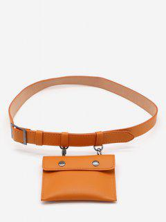 PU Leather Multi Function Waist Bag - Sandy Brown