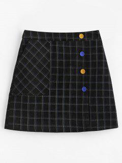 Checked Pelmet Corduroy Mini Skirt - Multi M