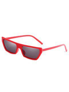 Anti Fatigue Rectangle Flat Leans Sunglasses - Red