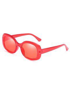 Gafas De Sol De Vacaciones De Playa De Marco Completo Anti Fatiga - Rojo