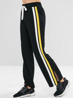ZAFUL Contrast Side Sports Sweatpants - Black L
