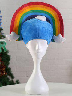 Rainbow Halloween Christmas Party Hat - Dodger Blue